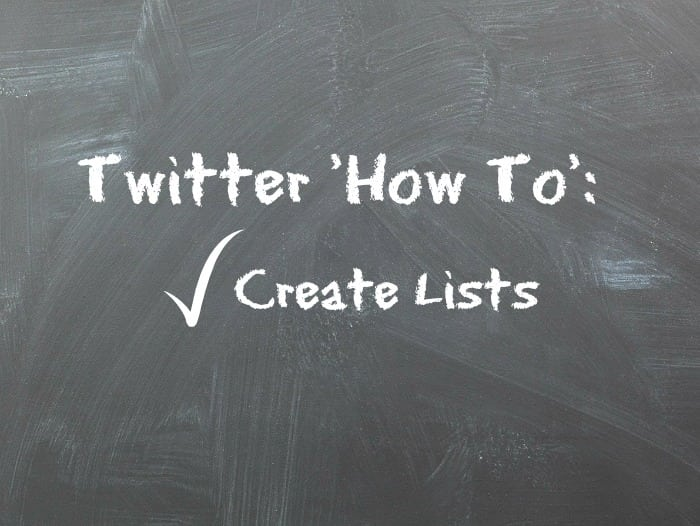 Creating Lists in Twitter