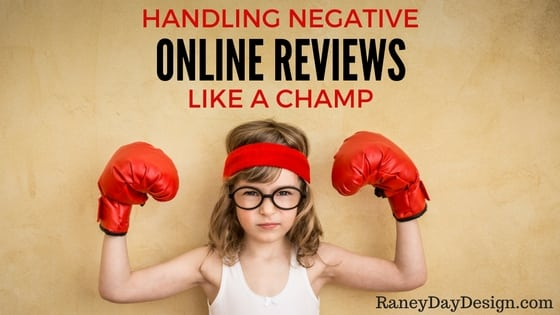 Handling a negative online review