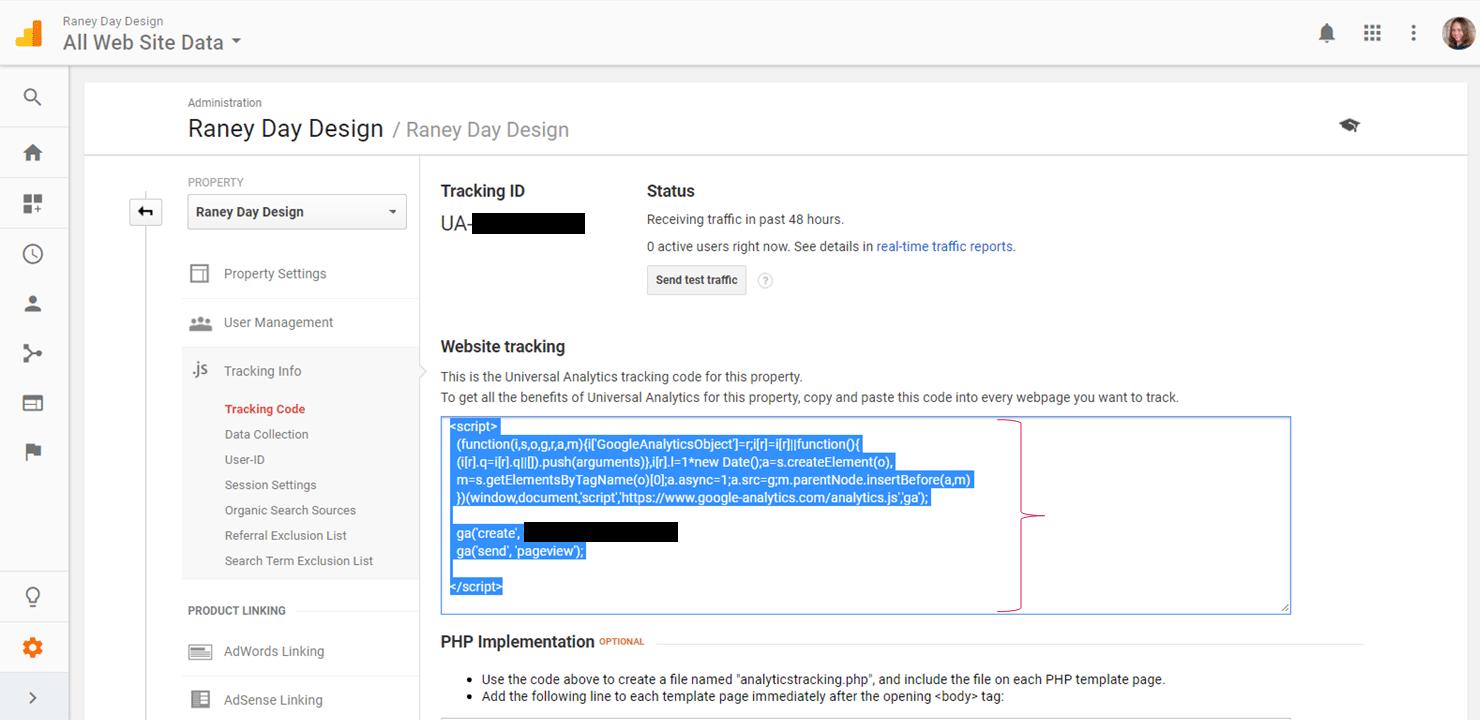 Adding Google Analytics to WordPress theme