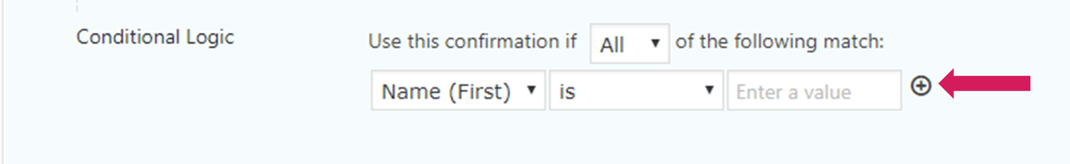 adding conditional logic to confirmations in gravity forms