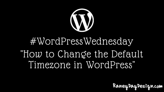 how to change the default timezone in wordpress