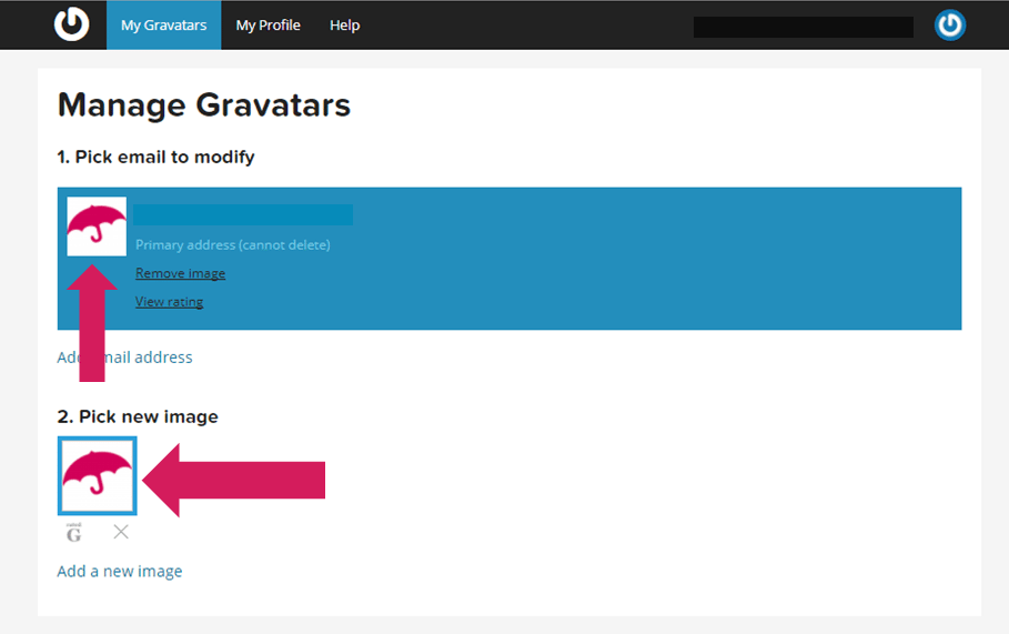 setting up your gravatar