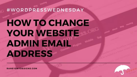 Change Your Website Admin Email Address