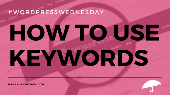 How to Use Keywords WPW