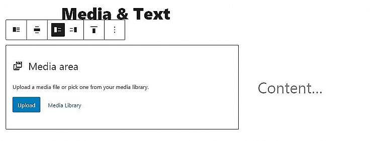New media and text block