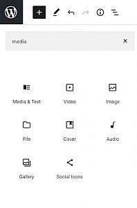 Block menu media icon