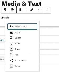 Add media shortcut