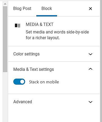 Stack on mobile toggle